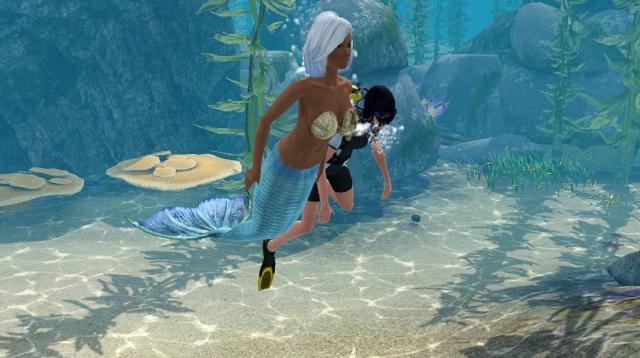 Секс с русалкой которая с хвостом