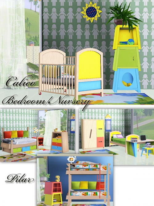 Calico Nursery Set by Pilar