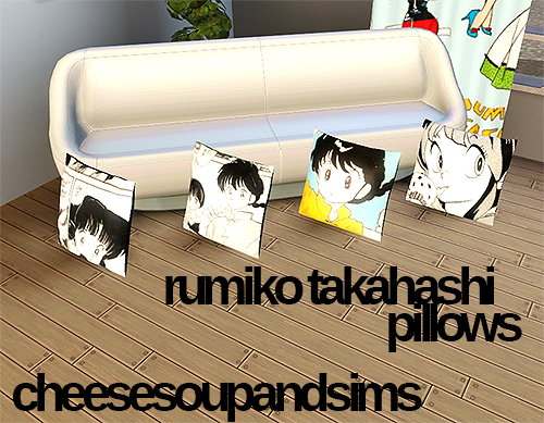 Rumiko Takahashi pillows by Cheesesoupandsims