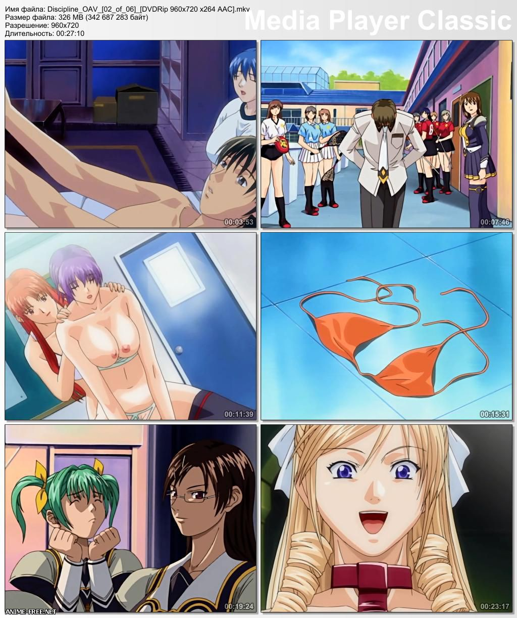 Discipline: The Hentai Academy / Дисциплина: Академия хентая [6 из 6] [720p] [JPN;RUS] Anime Hentai