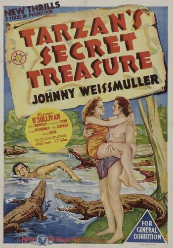Тайное сокровище Тарзана / Tarzans Secret Treasure (Ричард Торп / Richard Thorpe) [1941, США, приключения,мелодрама, DVDRip] MVO + original