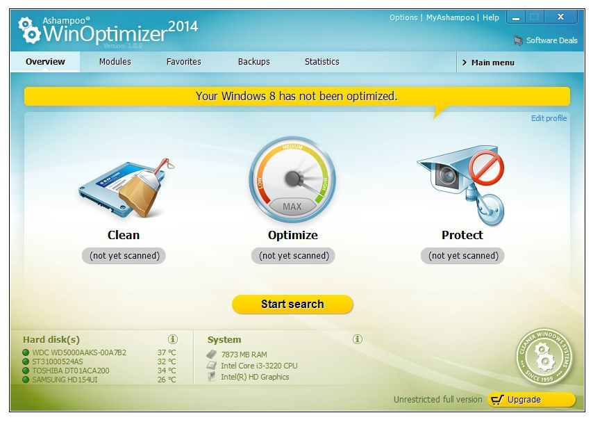 Ashampoo WinOptimizer 2014 1.0