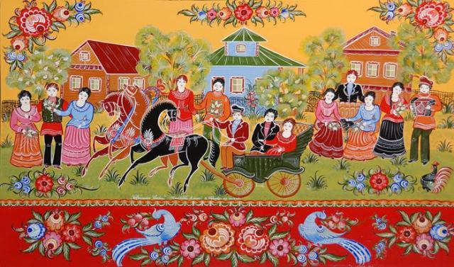 Городецкая роспись в музеях