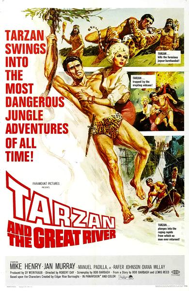 Тарзан и Великая Река / Tarzan and the Great River (Роберт Дэй / Robert Day) [1967, США, Швейцария, приключения,семейный, DVD5 (Custom)] VO (Kolobroad) + Sub Rus +Eng Sub + Original Eng