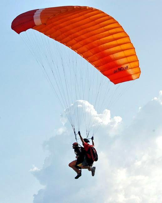 Полет на параплане: яркие ощущения
