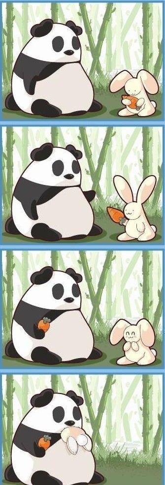 Панда и морковка 1