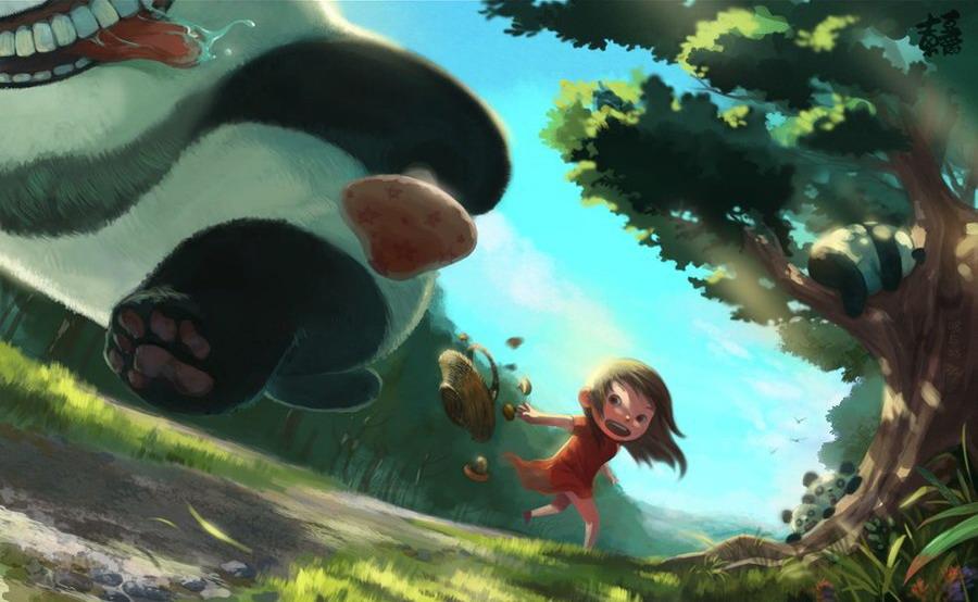 Бешенная панда 1