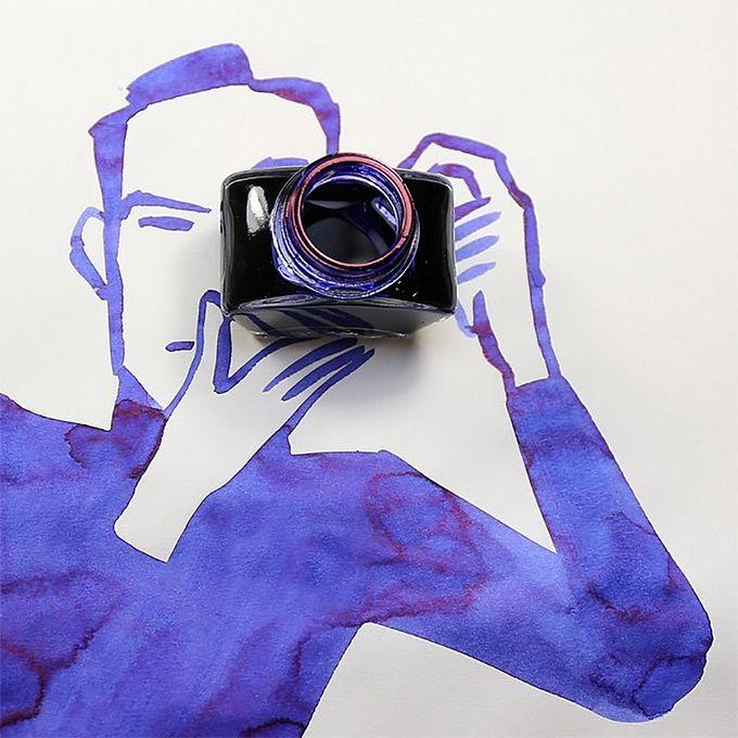 Эксперименты в Инстаграме иллюстратора Christopher Niemann