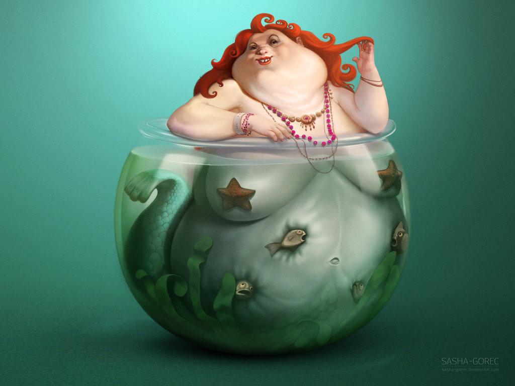 Русалочка в аквариуме 1