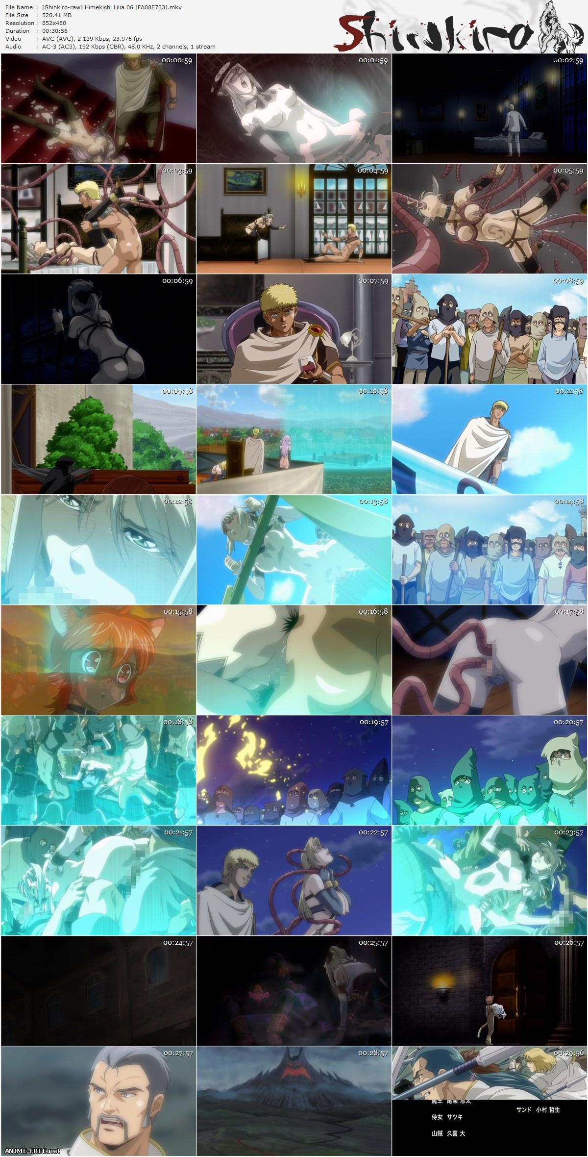 Лилия, леди-рыцарь / Himekishi Lilia [6 из 6] [JPN,ENG,RUS] Anime Hentai