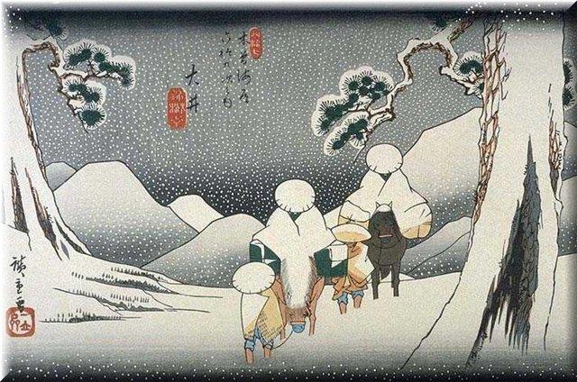 Творчество японского художника Утагава Хиросигэ