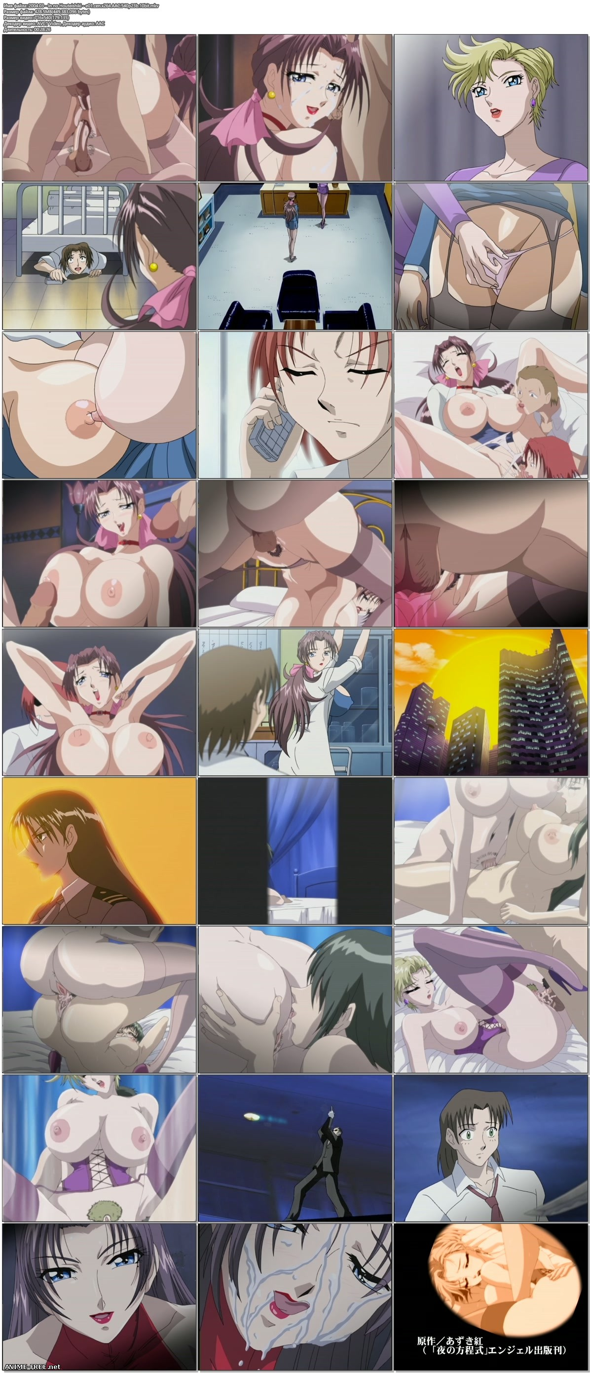 Immorality / In no Houteishiki / Уравнение безнравственности [2 из 2] [RUS,ENG,JAP] Anime Hentai