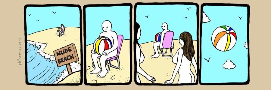 Случай на нудистском пляже