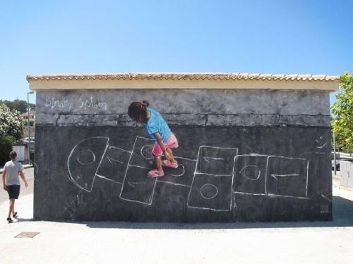Сплетение вымысла и реальности в граффити художника Сандро Томаса [Фоторепортаж]
