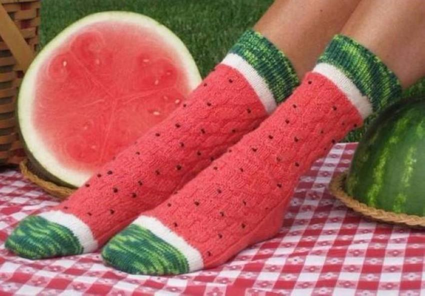 Арбузные носочки