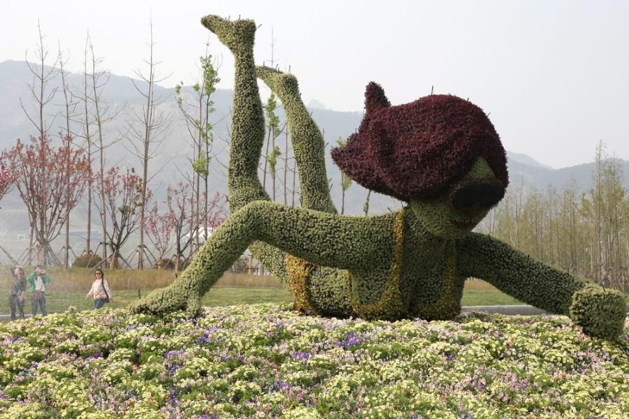 Цветочная скульптура