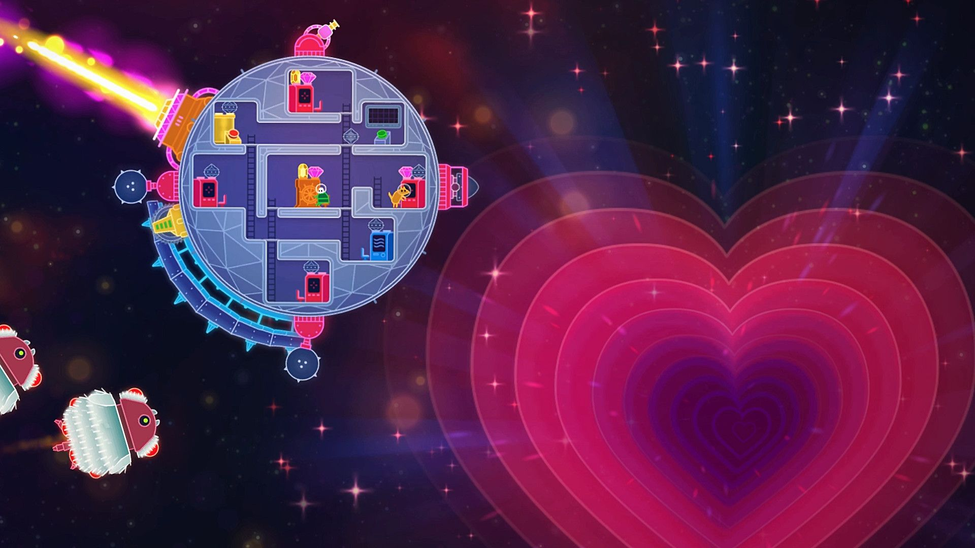 Скриншот Lovers in a Dangerous Spacetime v1.1.4 №2