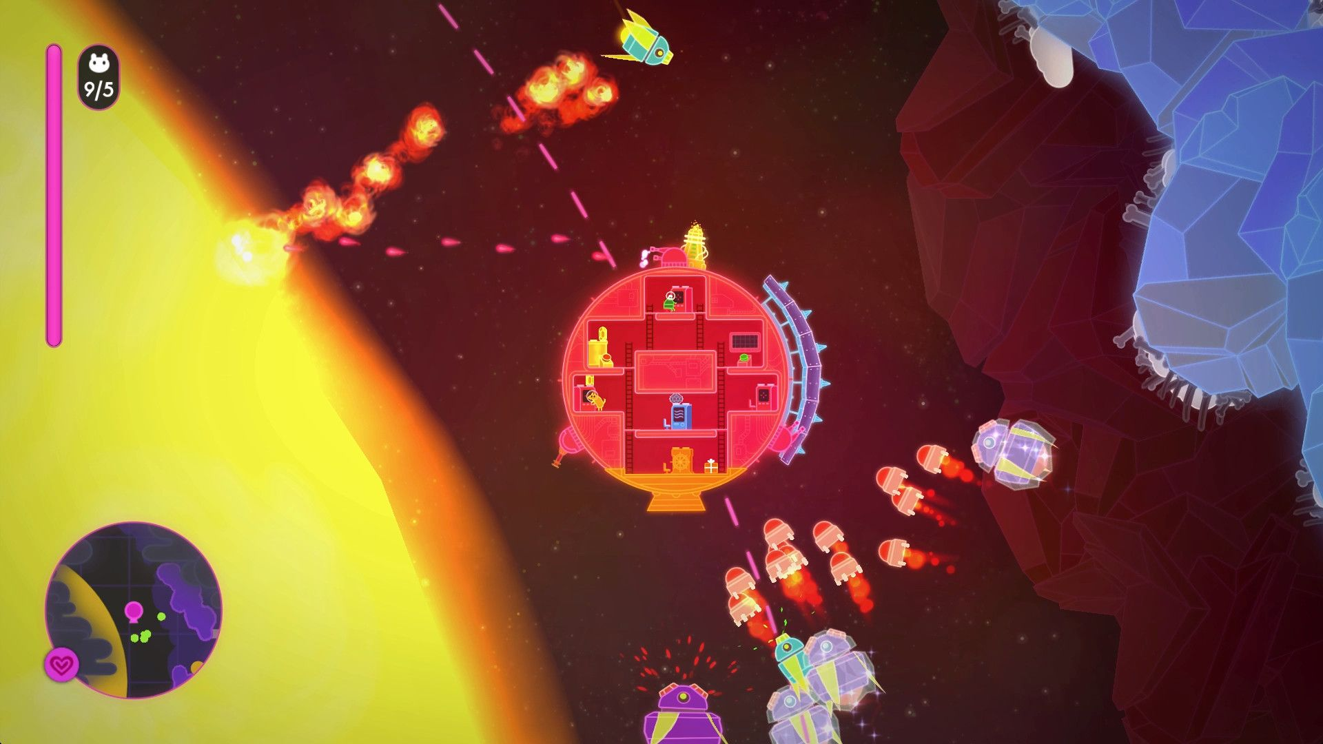 Скриншот Lovers in a Dangerous Spacetime v1.1.4 №3