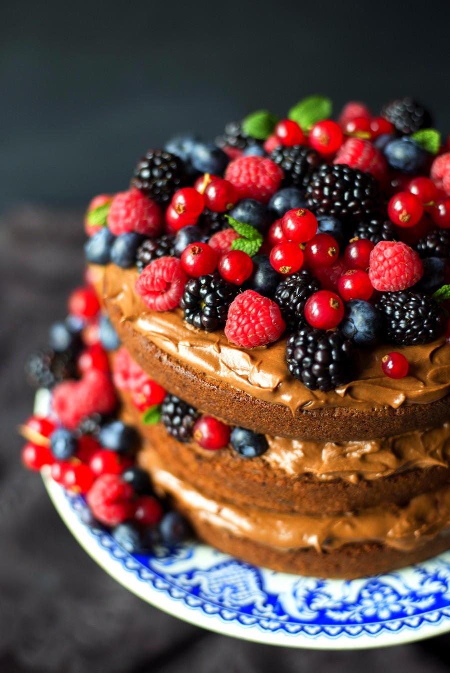 Ягодный тортик
