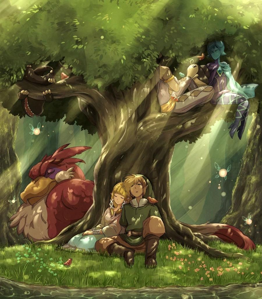 Линк с принцессой Зельдой