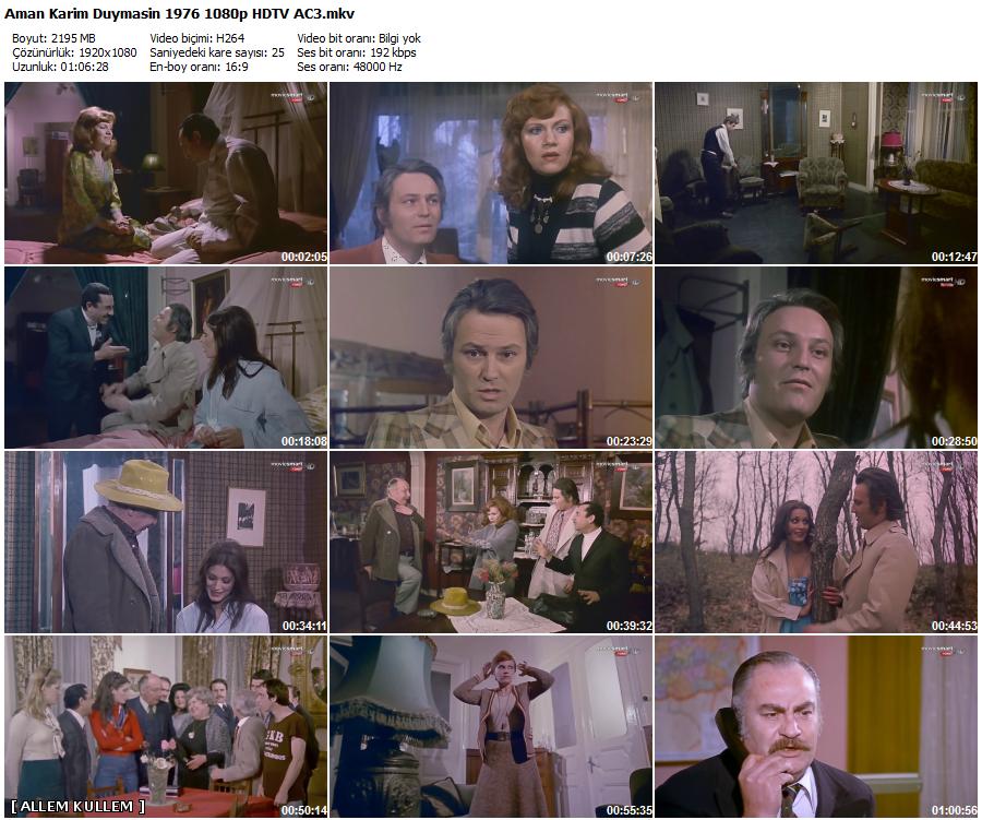 Aman Karım Duymasın 1976 (Yerli Film) 1080p HDTV AC3