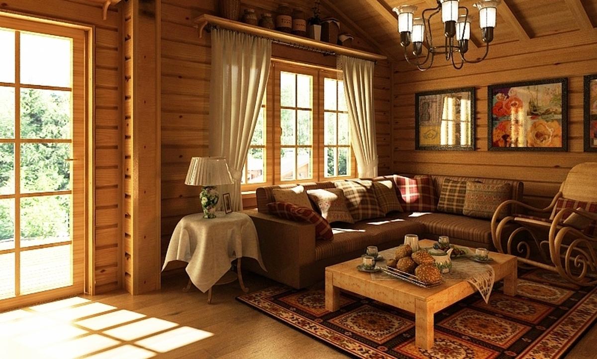 Интерьеры дома в русском стиле фото