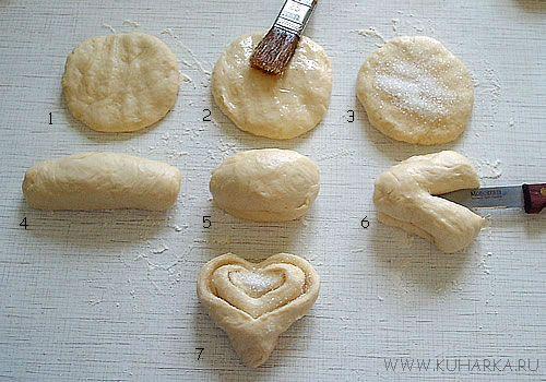 Как из теста сделать булочки с сахаром рецепт с
