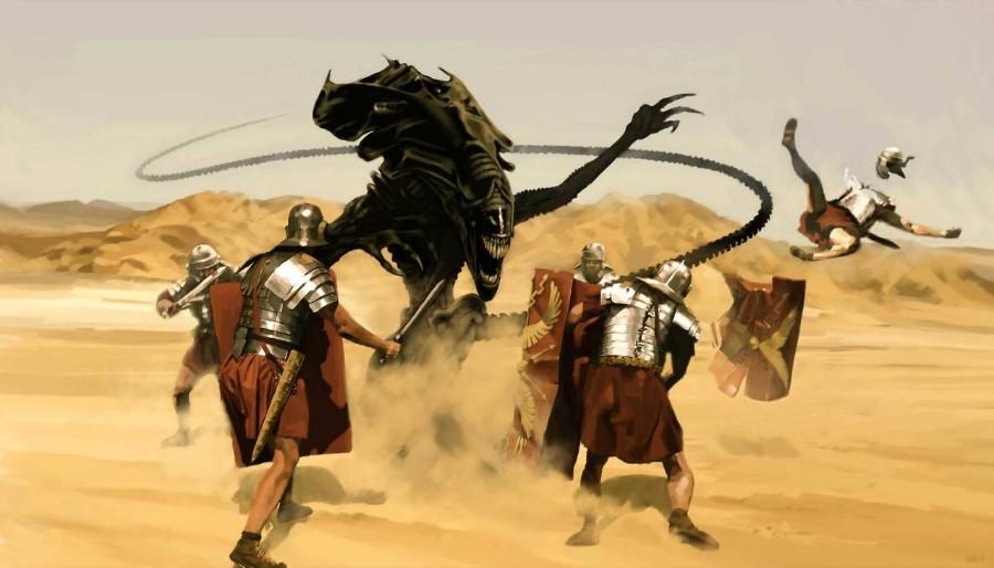 Чужой против 300 спартанцев