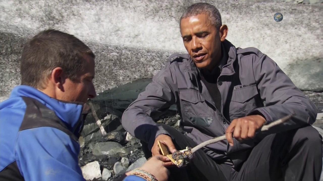 Discovery. Звездное выживание с Беаром Гриллсом - Барак Обама | HDTVRip 720p