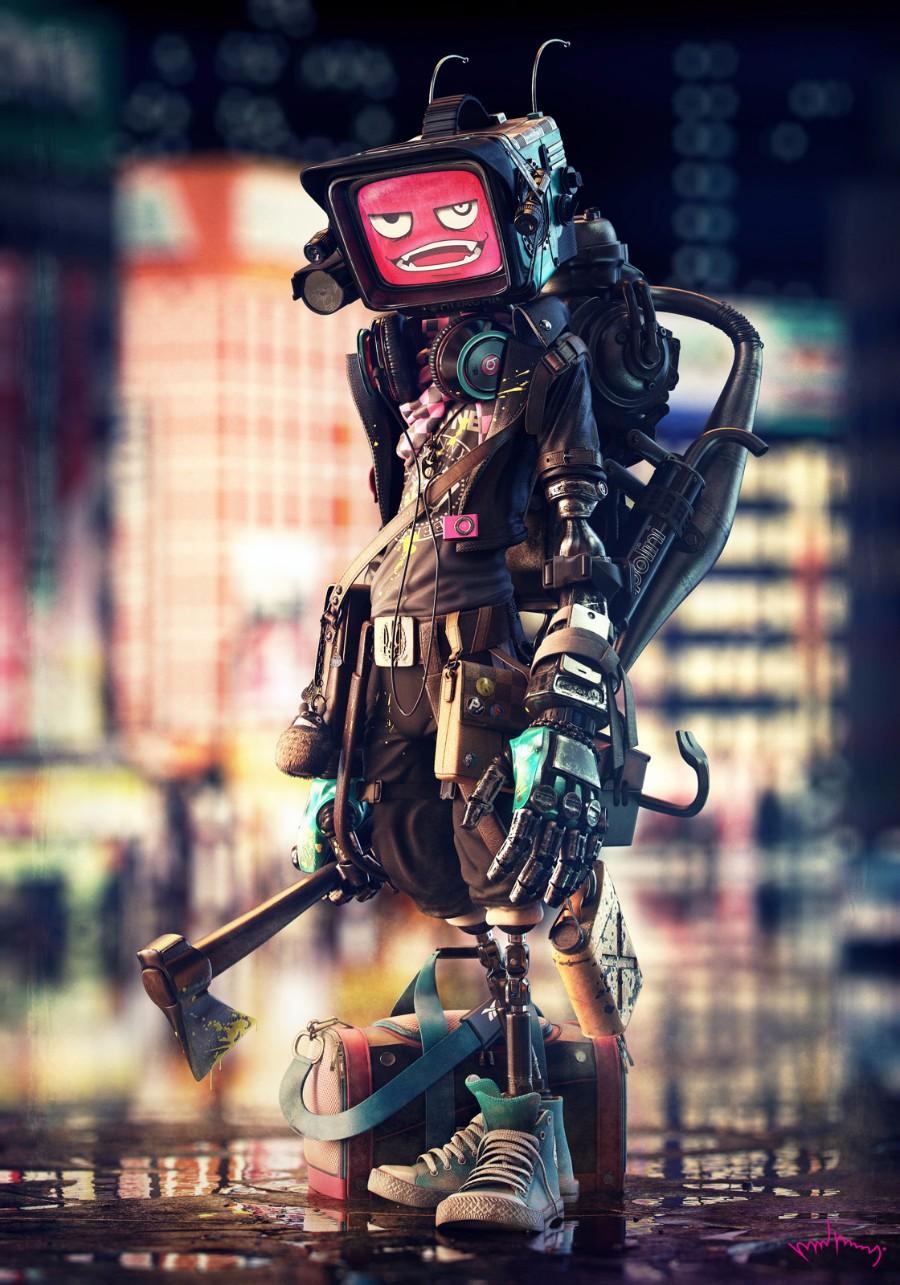 Робот с топором