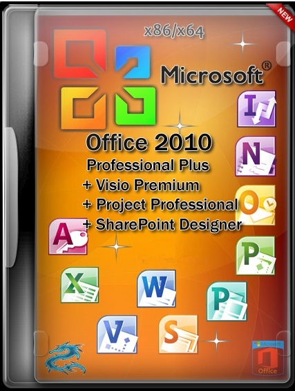 Microsoft Office 2010 Pro Plus + Visio Premium + Project Pro + SharePoint Designer SP2 14.0.7166.5000 VL (x86) RePack by SPecialiST v16.7 [Ru]