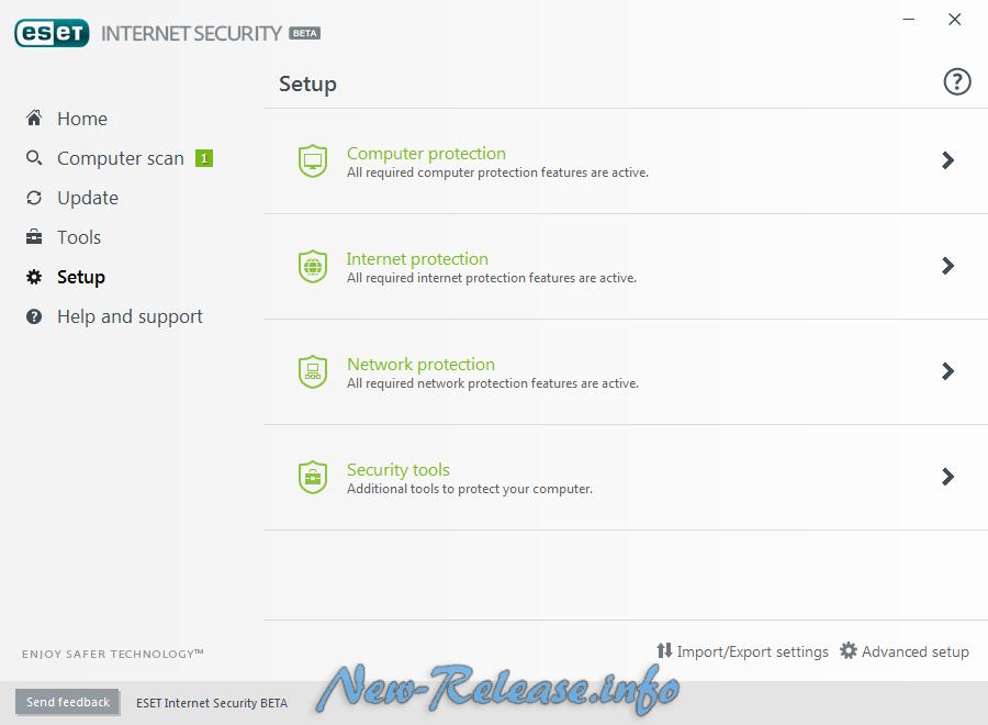 ESET NOD32 Internet Security 2017 10.0.106.0 Beta