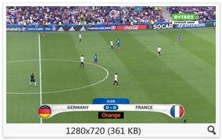 Футбол. Чемпионат Европы 2016. 1/2 финала. Германия - Франция [Футбол 1 HD] [07.07] (2016) HDTVRip 720p | 25fps