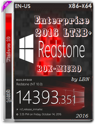 Microsoft Windows 10 Enterprise 2016 LTSB+ 14393.351 x86-x64 EN-US BOX-MICRO by lopatkin