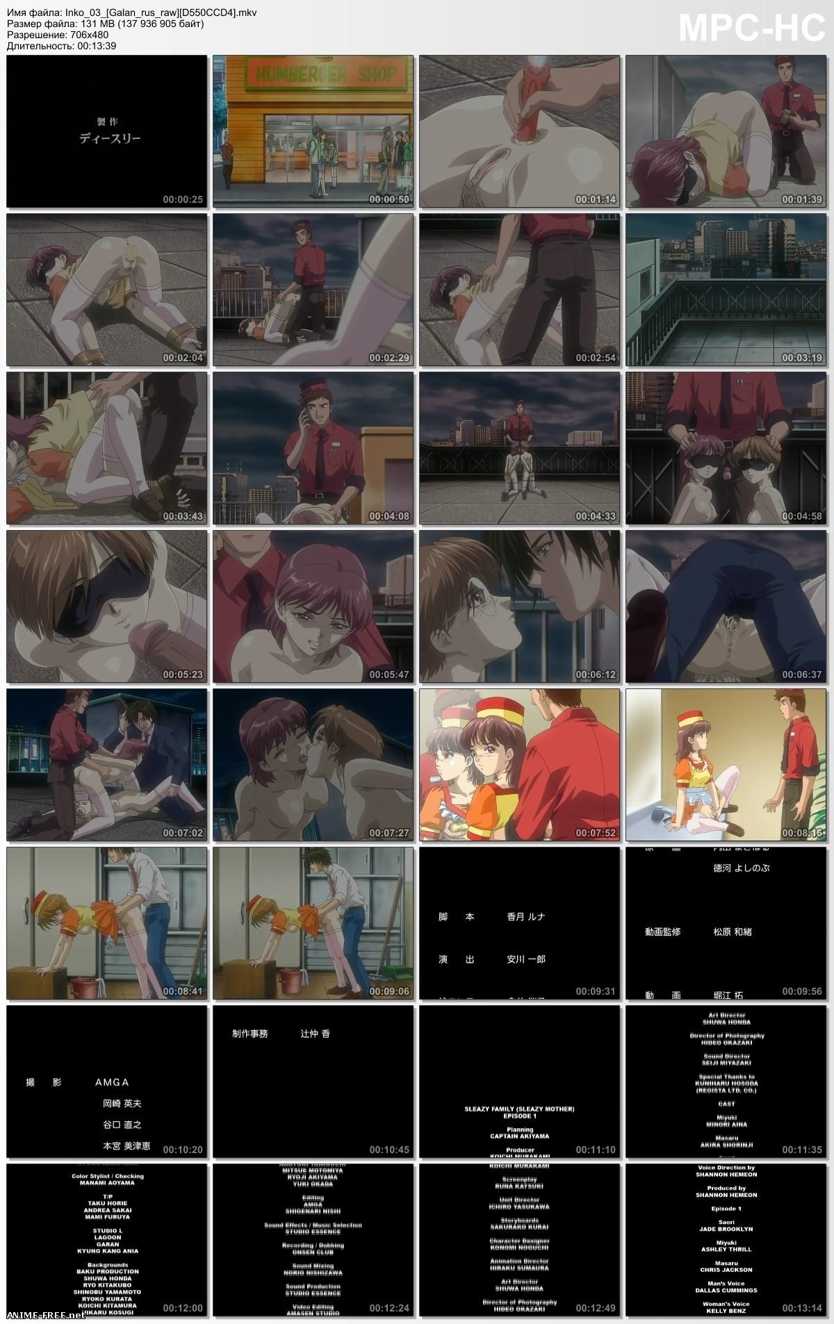 Развратная семейка / Inbo + Inko / Sleazy Family [Ep.1-6] [JAP,RUS,ENG,Multi5] Anime Hentai