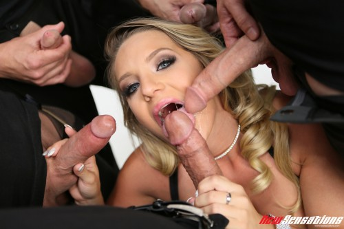 [New Sensations] Cali Carter - My First Blowbang! [2016 г.] [Blonde, Busty, Cum On Tits / Pearl Necklace, Deep Throat, Facial / CIM, Gang Bang, Handjob, Titty Fuck] [82 Photos, 1280*1920, 1920*1280, JPG]