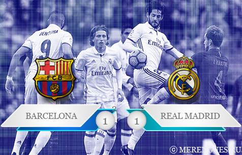 FC Barcelona - Real Madrid C.F. 1:1