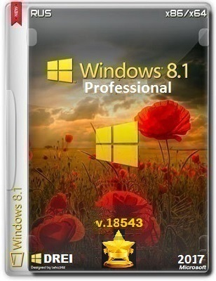 Windows 8.1 Pro 18543 DREI by Lopatkin (x86-x64) (2017) Rus