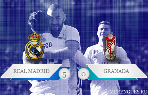 Real Madrid C.F. - Granada CF 5:0