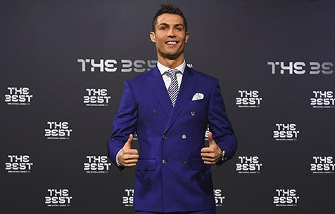 Роналду признан лучшим футболистом 2016 года по версии FIFA
