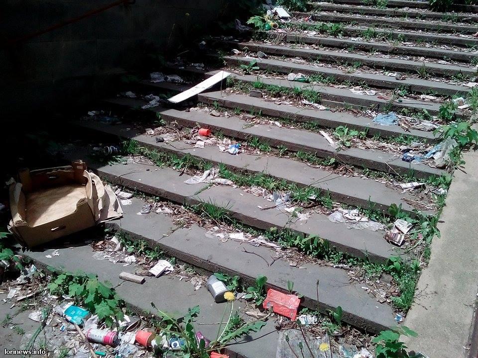 Վանաձորի գետնանցումները՝ աղբանոց ու հասարակական զուգարան (Ֆոտո)
