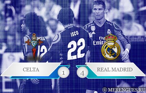 R.C. Celta de Vigo - Real Madrid C.F. 1:4