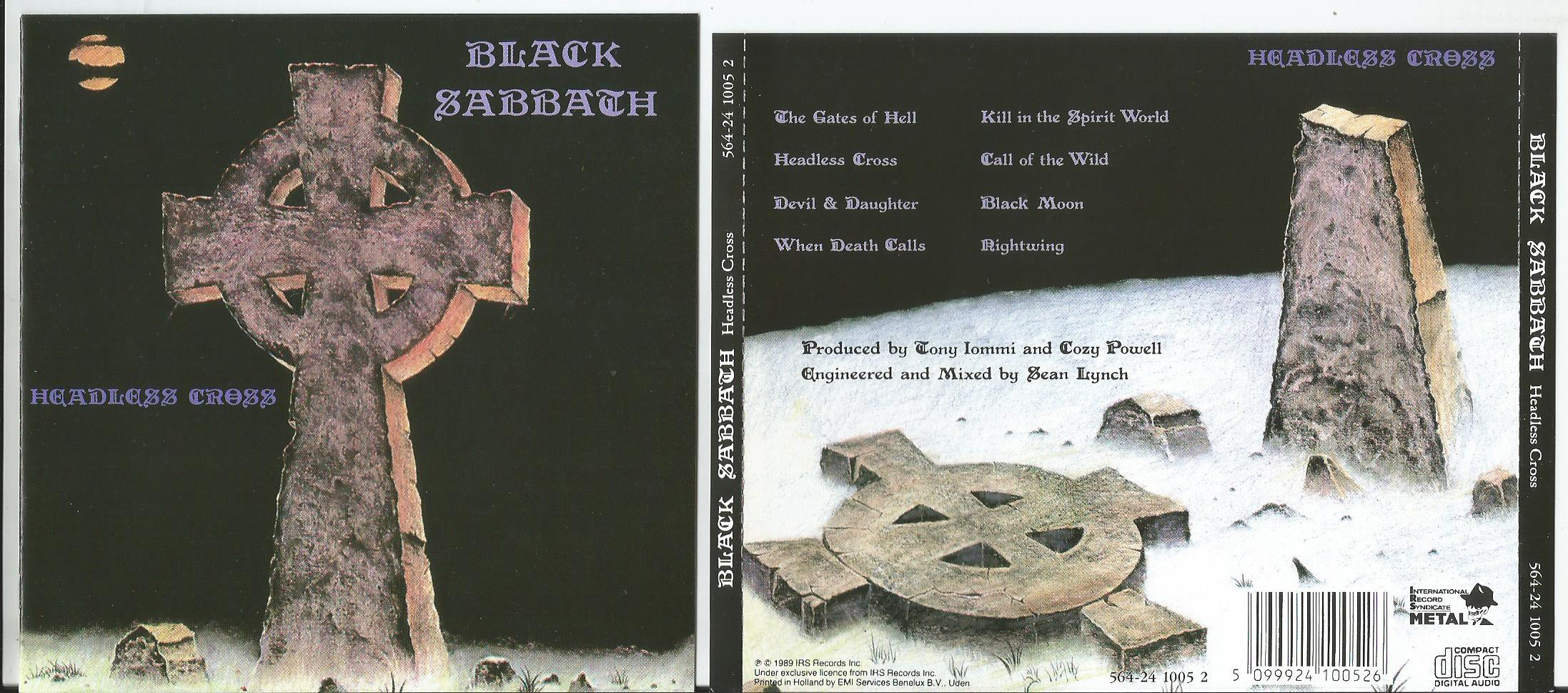 black sabbath headless cross (8page booklet with lyrics)