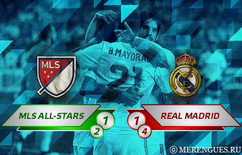 MLS All-Stars - Real Madrid C.F. 1:1 (2:4 по пен.)