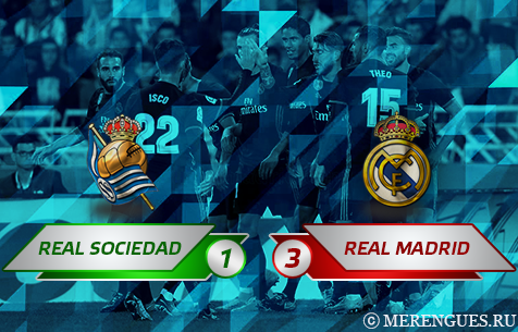 Real Sociedad S.A.D. - Real Madrid C.F. 1:3