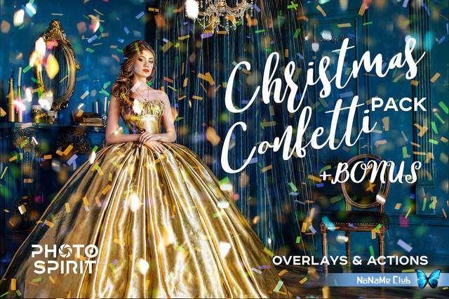 Экшены и наложения - Creative Market - Confetti Overlay Effect In Photoshop - 2038910 [ATN, JPG]