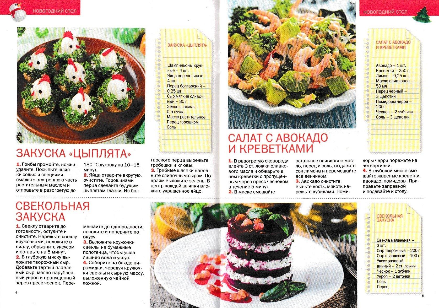 Рецепты салатов и закусок 2017