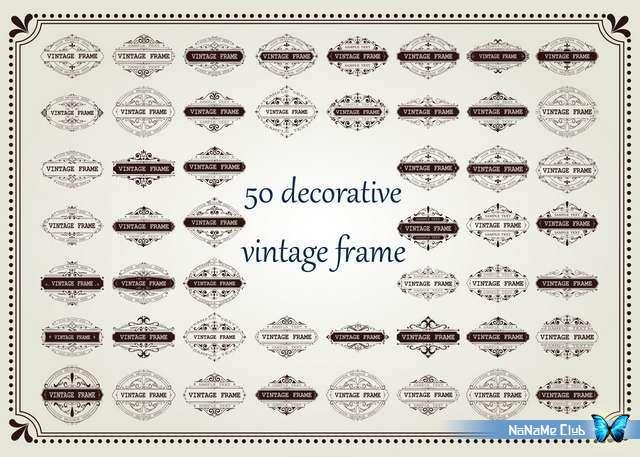 Векторный клипарт - Ornamental Vintage Labels 55 [AI]