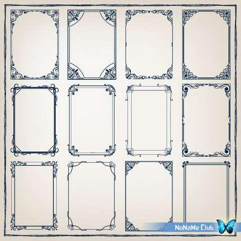 Векторный клипарт - Ornate Vintage Frames 54 [AI]