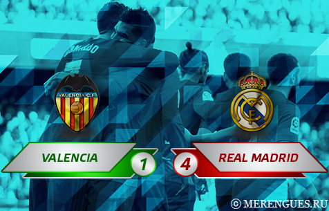 Valencia C.F. - Real Madrid C.F. 1:4